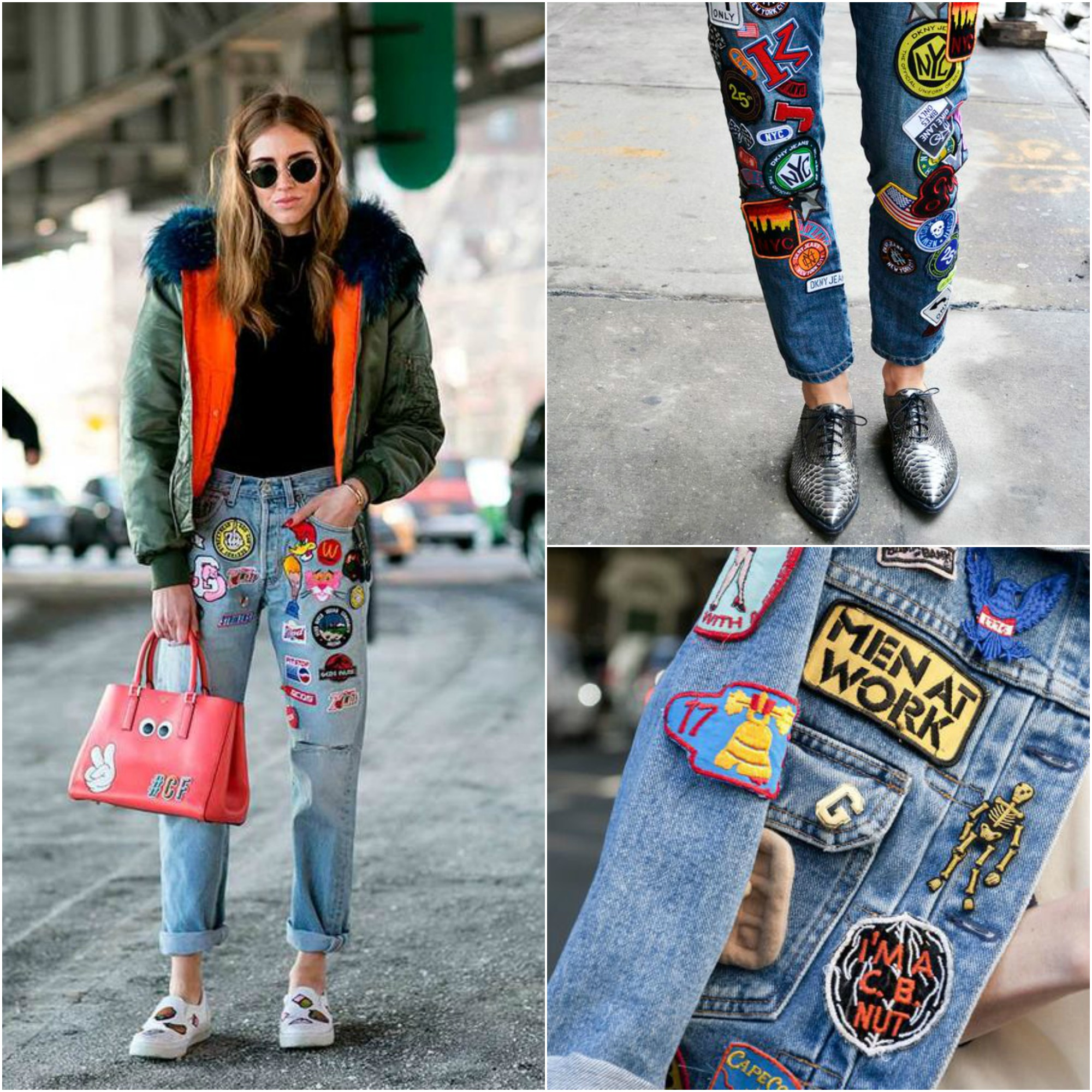 trend patches on jeans